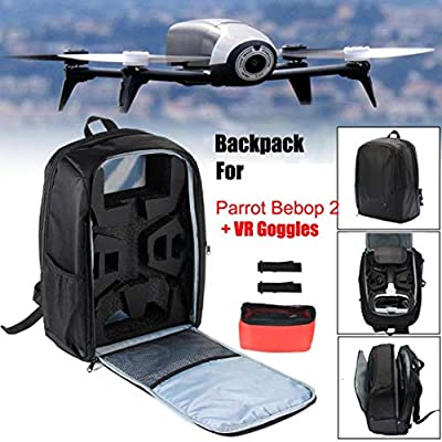 Gaddrt Portable Bag Backpack Shoulder Carrying Case for Parrot Bebop 2 Power FPV Drone Black