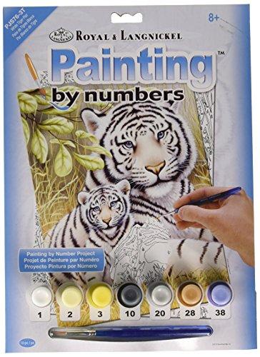 Royal & Langnickel PJS76 Design Paint by Numbers Kit - Paire de Tigres