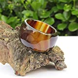 ShAwng Natural brown sardonyx male and female models thick jade jade ring finger ring authentic widening,9.75