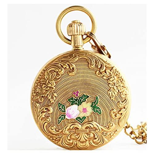 XIXIDIAN Reloj de bolsillo, reloj de bolsillo vintage Números romanos para hombre Reloj mecánico para mujer con cadena Navidad Graduación Regalos de cumpleaños Día de los padres con cadenas para mujer