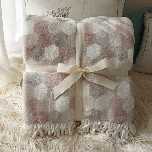 Rumsinredning Ultra Soft Throw Blanket Office Home Soffa Barn Kid bärbara bil reseförsäkring Flanell Printing Blankets med Macrame för Sängar hem (Size : 127x152cm)