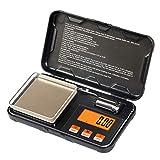 Balance numérique de poche - 200 g/0,01 g - Mini balance avec poids d'étalonnage - 6 unités - Haute précision - Multifonction - Pour bijoux, café, poudre, médicaments