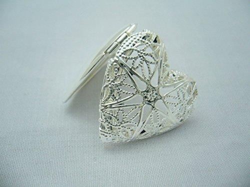 Bead club Metallteile Charm Herzrakete Silber 5 Stück 25 mm