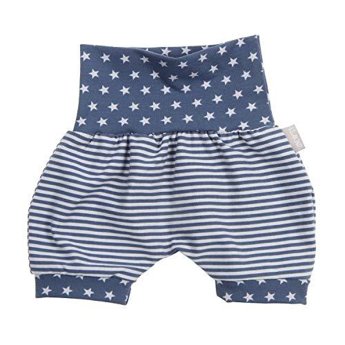"Lilakind"" Baby Kinder Shorts Kurze Pumphose Blau-Weiss gestreift mit SternenGr. 62/68 - Made in Germany"