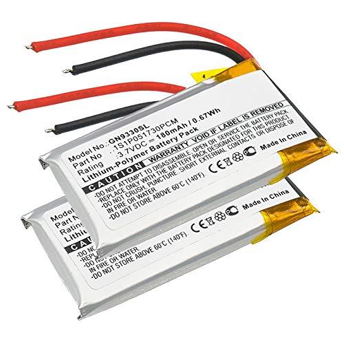 CELLONIC 2X Qualitäts Akku kompatibel mit Jabra GN9330, Netcom 9330, 1S1P051730PCM 180mAh Ersatzakku Batterie