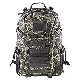 Greenpromise Mochila táctica militar de 35 L para exteriores, mochila de senderismo, impermeable, mochila de combate (camuflaje ACU)