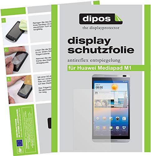 dipos I 2X Schutzfolie matt kompatibel mit Huawei MediaPad M1 8.0 Folie Bildschirmschutzfolie