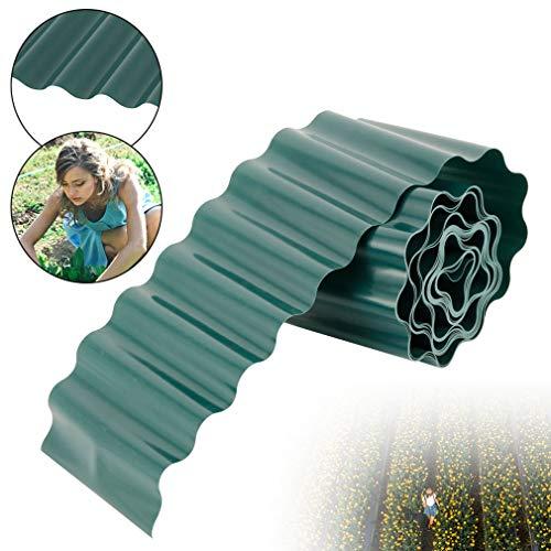 WMNRNYD Garten im Freien Dekorative Garten Kunststoff Zaun Paneele Flexible wetterfeste Zaun Landschaftsbau Gehwege, 4 Rollen