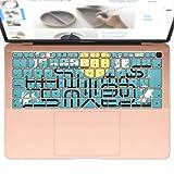 igsticker MacBook Air 13inch 2018 専用 キーボード用スキンシール キートップ ステッカー A1932 Apple マックブック エア ノートパソコン アクセサリー 保護 014996 秋 味覚 果物 月 うさぎ