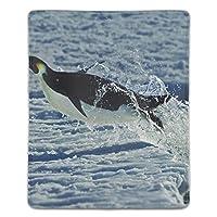マウスパッド 滑り止めゴム底 耐洗い表面 耐久 自然動物冬の雪ペンギン 180X220X3mm