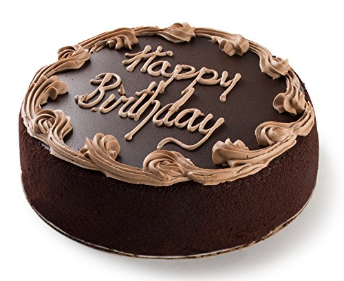 David's Cookies Chocolate Fudge Birthday Cake, 7 Inch