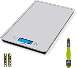 Balances de Cuisine, 20kg/44 LB Balance de cuisine numérique avec fonction de tare et Ecran LCD, Tactile Sensible, Acier I...