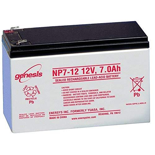 Batería de plomo estanca NP7-12 ENERSYS 12 12 V 7 AH: Amazon.es: Coche y moto