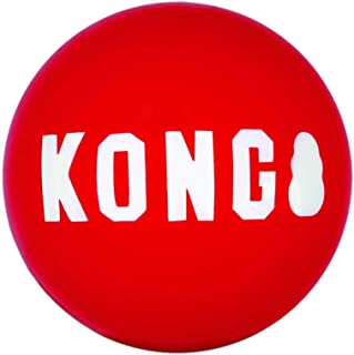 KONG - Signature Balls - 2 Pack Durable Ball for Chasing and Retrieving - For Medium Dogs