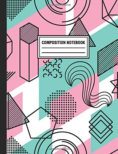 Composition Notebook: Geometric Gemstones Crystals Composition Book For Students College Ruled
