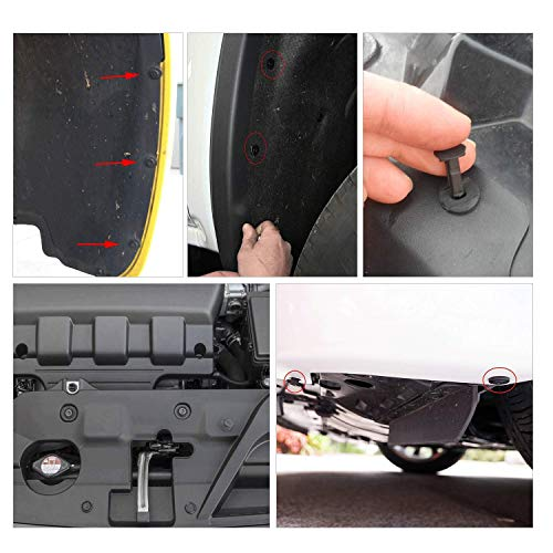 GOOACC GRC-30 120PCS Car Retainer 6.3mm 8mm 9mm 10mm Expansion Screws Replacement Kit Bumper Push Rivet Clips, 1PC Fastener Remover