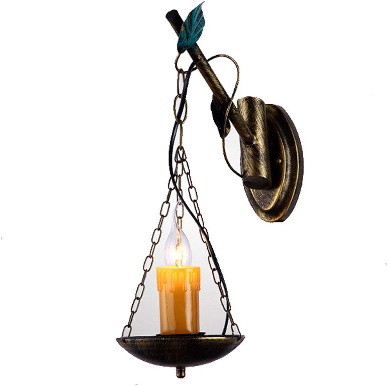Europische retro mediterranen schmiedeeisen wandleuchte persnlichkeit kreative antike bar licht ganglichter Amerikanischen land balkon lichter 45 cm
