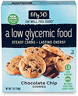 Fifty50 Foods Chocolate Chip Cookies, 7 Ounce (Pack of 6)