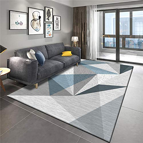 Alfombra moderna simple para salón, alfombra geométrica, sofá, mesa, alfombra, cama, dormitorio, alfombra, familia – 180 cm × 250 cm