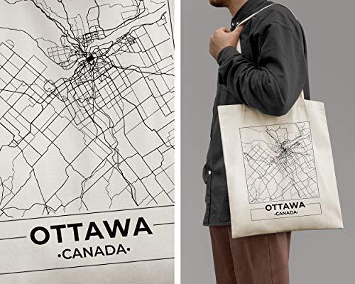 Ottawa, Canada, Mappa Della Città Tote Bag in Cotone