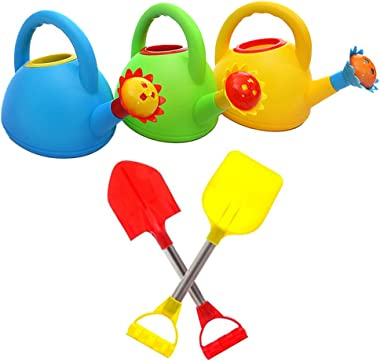 Kids Beach Toys - 1pcs Watering Can/ 2pcs Sand Shovels for Kids (Random Color) - Sandbox Toys for Kids and Toddlers, Travel S