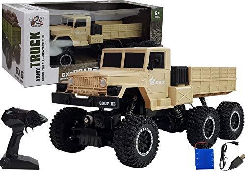 Camion militare radiocomandato R / C 1:12 6x6