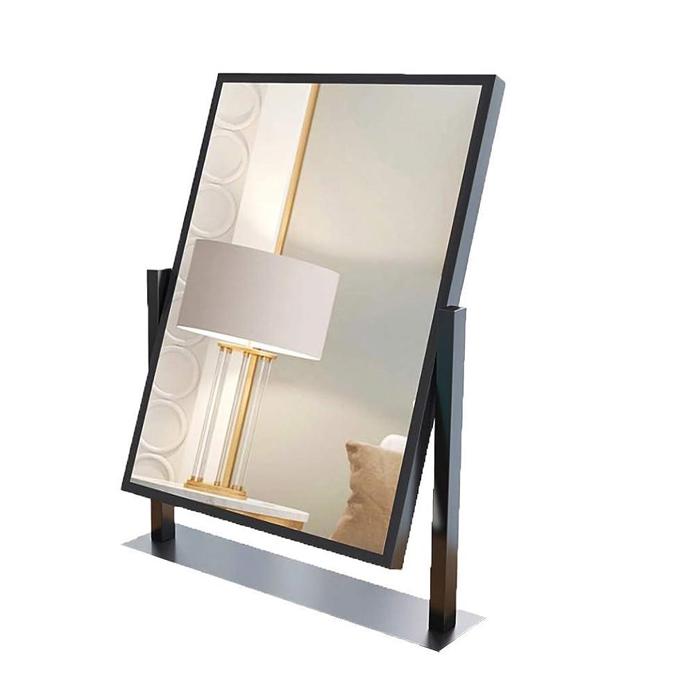 鏡スタジオ必要ないQJYNS照明付き女性化粧鏡デスクトップLEDランプ学生寮寝室化粧鏡