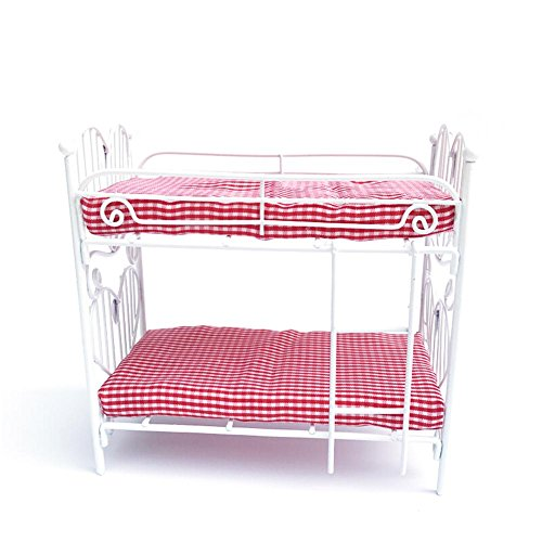 Puppenhaus Möbel mini Bett DIY 1:12 Puppenstube Schlafzimmermöbel Stockbett