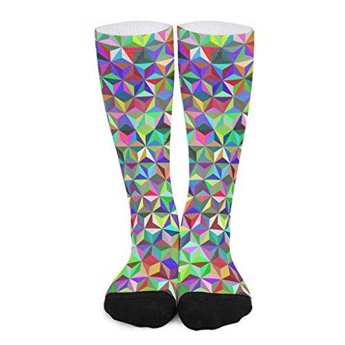 Patrón triángulo de longitud media pantorrilla calcetín ajuste para hombres y mujeres patrón de estilo europeo suave y cómodo de alta calidad el mejor regalo para el aire libre a un amigo