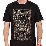 GOFFFECC Men's Clutch Band Sporty and Comfortable Tshirt L Black
