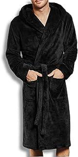 Hombre Robe - Albornoz largo de invierno para hombre, vestido de forro polar, pijama para hombre, suave