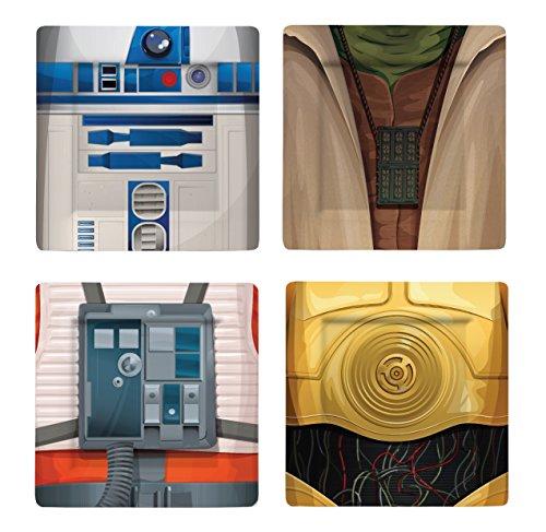 Funko SW02621 Star Wars Plate Set: I AM Jedi 2, Melamine, Multi-Colour, 21 x 21 x 2 cm