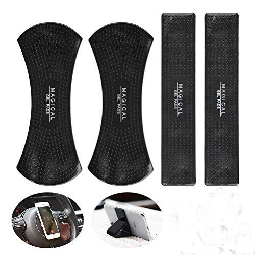 BUYGOO Fixate Gel Pads Handy (Neuste) - 4PCS Gel Anti-Rutsch-Pad Handy Halterung, Universal waschbar Selbstklebende Fixate Cell Gel-Pads Auto Antirutschmatte Ständer für Smartphones & Tablets