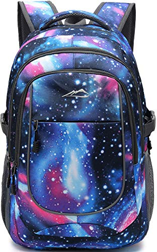 Backpack Bookbag for School College Student Travel Business Hiking Fit Laptop Up to 15.6 Inch (Galaxy)