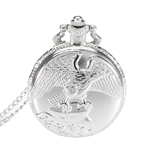 Dxlta Vintage Herren Damen Taschenuhr Schmuck Antike Adler Flügel Quarz Halskette Anhänger Kette Uhr Geschenk