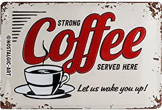 Blechschild Wandschild geprägt Coffee 26,8x48,8 cm