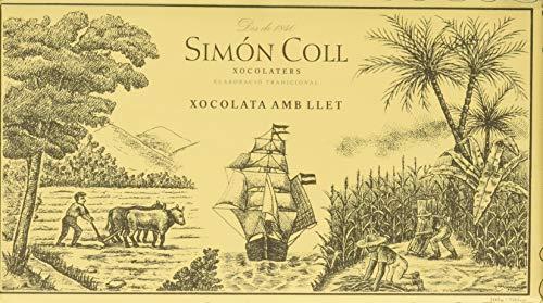 Chocolates Simón Coll, Barrita grande de chocolate (Leche) - 20 de 200 gr. (Total 4000 gr.)