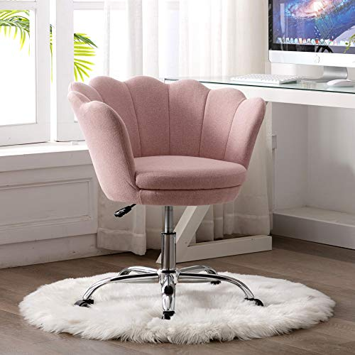 Goujxcy Desk Chair,Modern Linen Fabric Office Chair,360° Swivel...