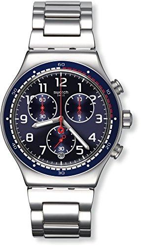 Swatch Reloj Digital para Hombre de Cuarzo con Correa en Acero Inoxidable YVS426G
