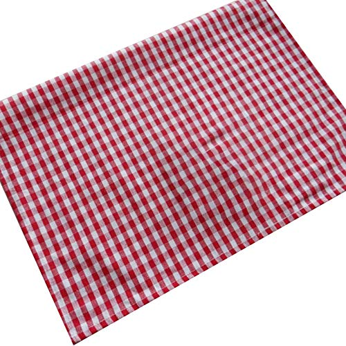Servilletas de Tela Escocesa Japonesa Cojín Home Baking Gourmet Tela de Fondo Rojo, Rojo
