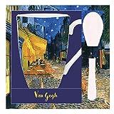 Van Gogh, Taza con Cuchara con dibujo de ''Terraza de café por la Noche'', Enesco