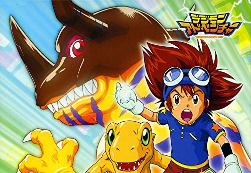 JUNLIZHU Digimon Adventure Bokura no War Game (87cm x 60cm | 35inch x 24inch) Silk Print Poster Silk Printing / AB8AF0