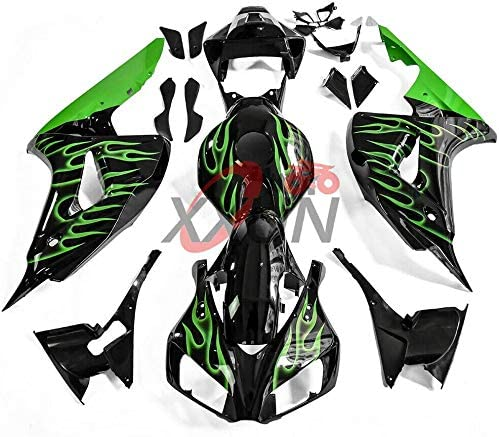 Lorababer Motorcycle Black Popular popular with Green Now free shipping Fair Plastic Injection ABS