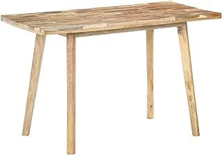 vidaXL Bois de Manguier Brut Table de Salle à Manger Carrée Table à Dîner Table de Repas Meuble de Cuisine Maison Intérieu...