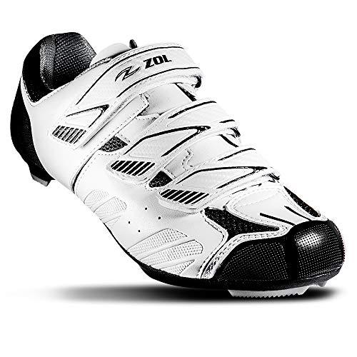 Zapatillas para bicicleta de carretera Zol Stage, 42 CM (EU)/ 9 (US), Blanco