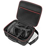 Hard Carrying Case for Oculus Quest All-in-one VR Gaming Headset and Controllers Accessories, Protective Storage Travel Bag - Black