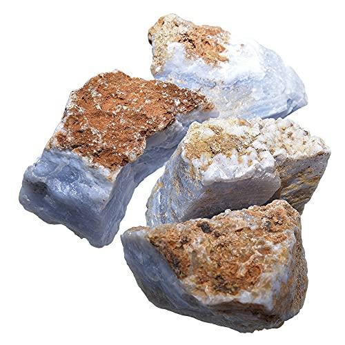 Chalcedon Rohstein blau gemasert