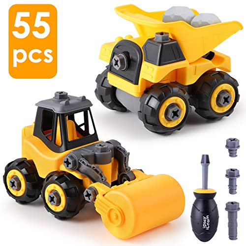 iPlay, iLearn Take Apart Construction Truck Toys, Assembly Vehicle Playset Dump Truck,...