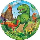 Unique Party 58314 - Assiettes en Carton - 18 cm - Fête à thème des Dinosaures - Paquet de 8
