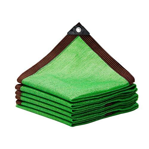 Kanulan - Toldo de red 80% verde con protector solar para patio al aire libre, balcón, 23 tamaños, toldo para exteriores, polietileno, Verde, 4x5m